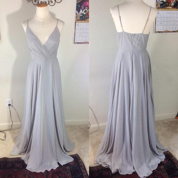 Anthropologie Dresses & Skirts - Anthropologie BHLDN Grey Maxi Formal Gown